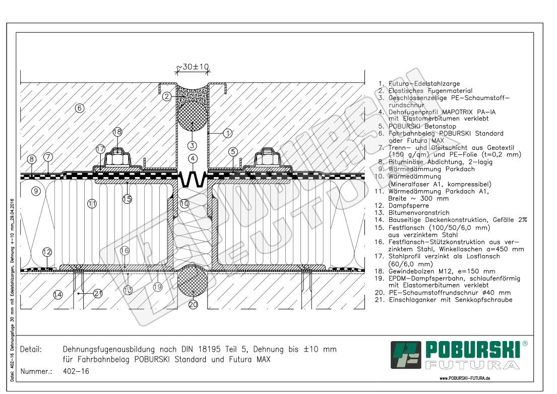 poburski futura - 3 dehnungsfuge